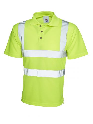HiViz Polo Shirt Yellow UC805